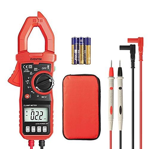 Pince Multimètre Numérique Portable ET820 Multimètre Digital Clamp Ampèremétrique, Testeur de Tension AC/DC, Courant AC, Voltage, Résistance, Continuité, Eventek