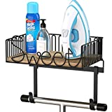 SRIWATANA Ironing Board Hanger Wall Mount, Iron Holder with Large Storage for Laundry Room -...
