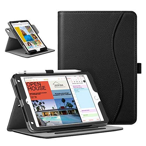 Fintie, hoes, compatibel met iPad Mini 5 2019, iPad Mini 4-360 graden verstelbare beschermhoes, verschillende kijkhoek met pennenhouder, automatische slaap/waakfunctie zwart