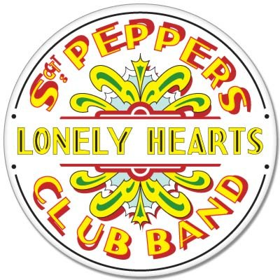 The Beatles Sgt. Peppers Lonely Hearts Vynil Car Sticker Decal - Select Size