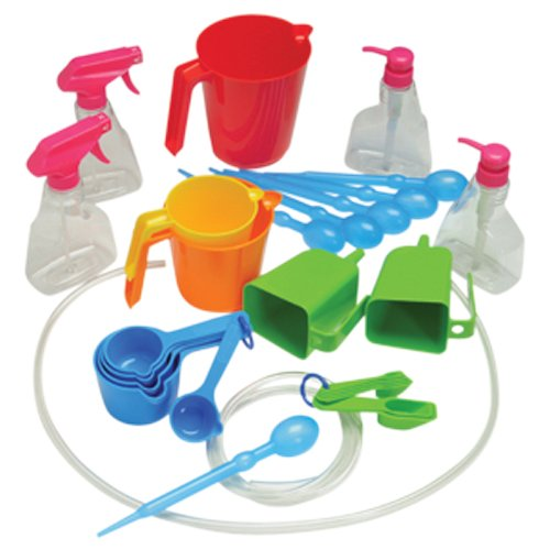 Constructive Playthings Measure and Pour Water Play Kit, Educational Toy for Kids, 34 Piece Set
