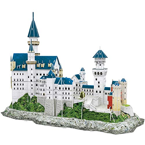 CubicFun 3D Neuschwanstein Castle Puzzles for Adults and Teens, Germany Architecture Building Model Kits Toys Stress Relief Gifts for Women and Men, 121 Pieces