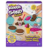 Kinetic Sand Scents, Ice Cream Treats Playset with 3 Colors of All-Natural Scented Sand and 6 Serving Tools