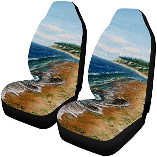 Fundas de asiento de coche Sailing Thunder Rain personalizadas para el frente de 2, protector del asiento del vehículo Alfombrilla para el coche Se adapta a la mayoría de los automóviles, camiones