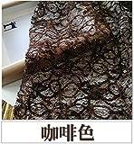 Meterware als Dekostoff- Spitze Pailletten Mesh Kleid Stoff