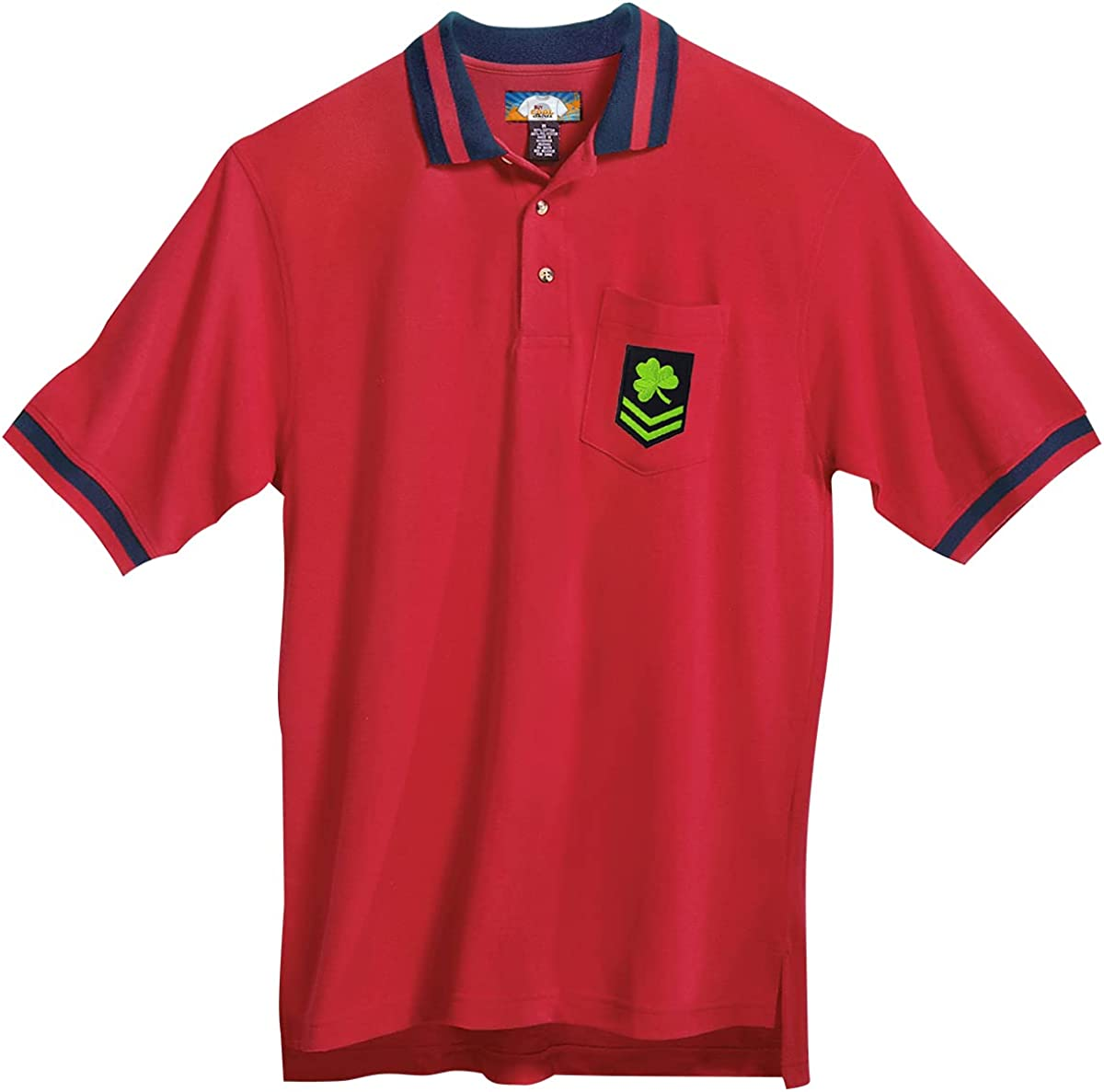 Buy Cool Shirts Irish Military Patch Polo Shirt with Pocket - Regular, Big and Tall Sizes