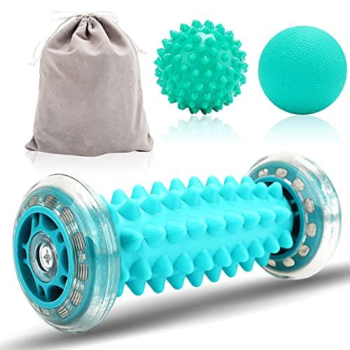 Fußmassage Gerät [3er Set] Fussmassageroller Kleine Fuss Faszienrolle, Bälle Set Igelball zur Linderung von Muskelkater plantarfasziitis, Entspannen Sie den Druck, um die Schmerzen zu lindern