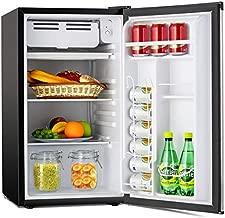 Kuppet Compact Refrigerator Mini Refrigerator Small Drink Food Storage Machine for Dorm, Garage, Camper, Basement or Office, Single Door Mini Fridge, 3.2 Cu.Ft (Silver)