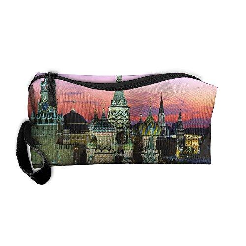 HYHYFGSSD European Architecture Makeup Bag Zipper Pouch Purse Portable Storage Pouch Bag Handbag