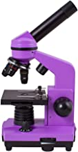 Levenhuk Rainbow 2L Amethyst Student Microscope for Children with Experiment Kit, Upper and Lower LED Light for Observing All Kinds of Samples