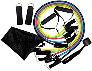 11 Pcs/Set Latex Resistance Bands Crossfit Training Exercise Yoga Tubes Pull Rope,Rubber Expander Elastic Bands Fitness wi...