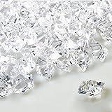 Infilm, 1000 pezzi di pietre di ghiaccio sintetiche, cristalli finti in plastica, cubetti di ghiaccio, gemme acriliche, ideali per riempire vasi, feste e feste di matrimonio