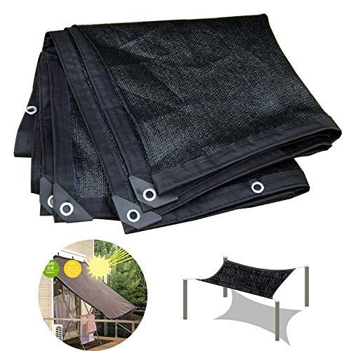 YYQ Malla Sombreo Negro Malla ocultación Resistente a los Rayos UV,Plegable,con Cuerda de PP,para Plantaciones/Barn/Pérgola,5x6m 6x6m