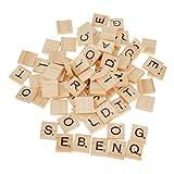 100pcs Juguetes Juegos Artesanía Alfabeto Scrabble Azulejos Letras Negras Y Números 20*18*5MM
