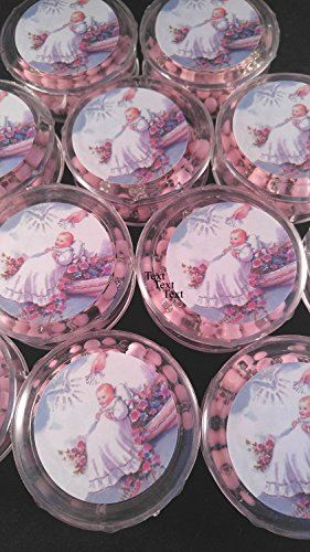 YRP 12 pcs New Pink Scented Wooden Rosaries Baby Baptism Party Favors Recuerdos Rosario