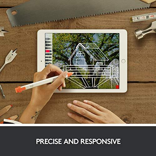 Logitech Crayon Digital Pencil for iPad Pro 12.9-Inch (3rd & 4th Gen), iPad Pro 11-Inch (1st & 2nd Gen), iPad (6th, 7th & 8th Gen), iPad Air (3rd & 4th Gen), iPad Mini 5, iOS 12.2 and Above — Orange