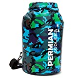 PERMIAN Portable Cooler Bag Roll Top, Camouflage, Insulated, 15L - Foldable, Waterproof Dry Bag Hunting & Fishing, Cooler Backpack for Camping & Hiking, Leakproof, Floating Cooler for Kayaking - Camo