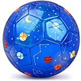 PP PICADOR Kids Soccer Ball, Sparkling Soccer Ball Cartoon Ball Toy Gift with Pump for Kids, Toddlers, Children, Boys, Girls, School, Kindergarten, Student, Baby
