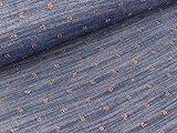 Quality Textiles Leichter Jeansstoff Yukon Pindots Kupfer