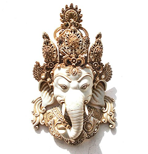 CraftVatika Himalaya Vintage Estilo Ganesh Muralla ropero, Máscara tibetana Buda...
