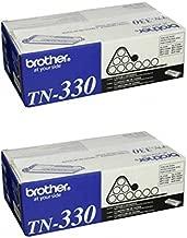 Brother Genuine TN-330 (TN330) Black Laser Toner Cartridge 2-Pack