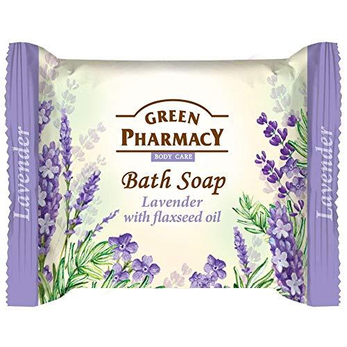 Green Pharmacy Savon de bain à l'huile de lavande et de lin 100 g