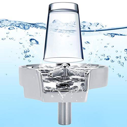 Cosiki Glass Rinser, G1/2in automatischer Becherreiniger aus Edelstahl für den gewerblichen Gebrauch im Haushalt