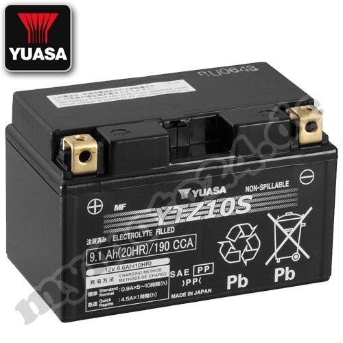 Batteria YUASA YTZ10S, 12V/8,6AH (dimensioni: 150x 87x 93)