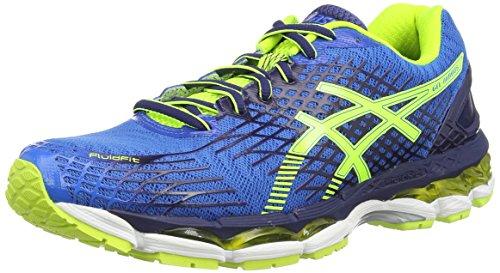 ASICS Gel-Nimbus 17 - Zapatillas de deporte para hombre, color azul (electric blue/flash yellow/ind), talla 40.5 EU (6.5 UK)