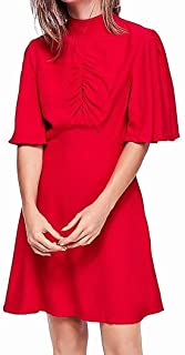 Free People Be My Baby Women's Ruched Mock Neck Flutter Sleeve Mini Dress