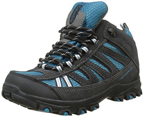 Columbia Pisgah Peak Mid Waterproof Unisex-Kinder Trekking & Wanderhalbschuhe, Blau (Dark Compass/Black 402), 35 EU, BY3234