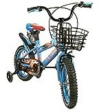 Zerimar Infantiles para niños ruedines y Cesta| Bici niño 14,16,18 Pulgadas | Bicicletas 3-8 años, Azul, 14