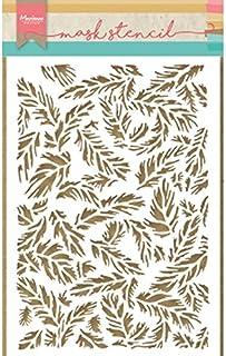 Marianne Design PS8004 Design et Pochoir, Plumes, pour Gaufrage, pour Loisirs Créatifs avec du Papier, Transparent, 14, 9 ...