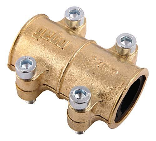 Gebo 16048 - 3 abrazaderas para tubería de cobre, 22 mm, latón