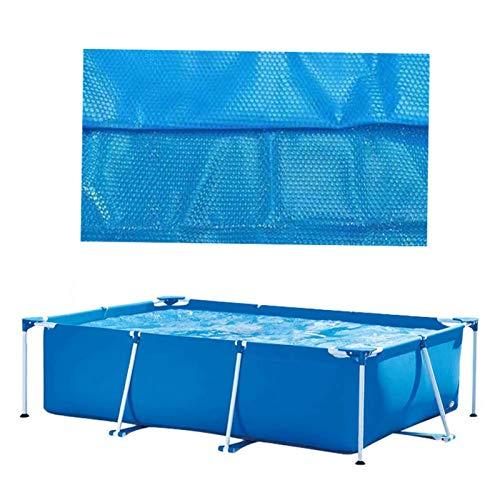 Nrkin Cubierta solar rectangular para piscina rectangular de marco rectangular / piscina familiar hinchable, calentamiento del agua por energía solar
