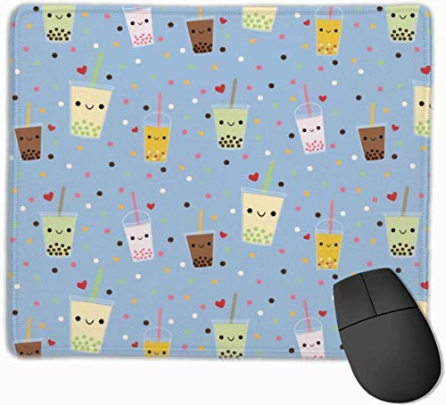 Happy Boba Bubble Thee Gaming Muis Mat Pad Muis Mat Antislip Rubber Base Oppervlak voor Computer PC Toetsenbord en Bureau 9.8