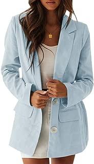 Ofenbuy Womens Casual Long Blazer Loose Fit Long Sleeve Linen Cardigan Jacket Boyfriend Blazers