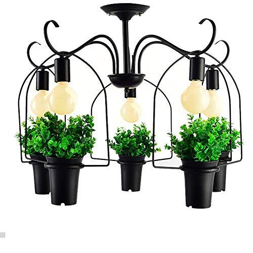 AI LI WEI mooie lampen/Industry vintage lamp plant bloempot 5 hoofd ijzeren hanglamp Art E27 licht potplant creatieve restaurant cafe bar gepersonaliseerde hanglamp