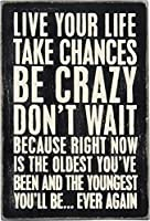 Live Your Life Take Chances Mailable Wooden Postcard 4 Inch x 6 Inch [並行輸入品]