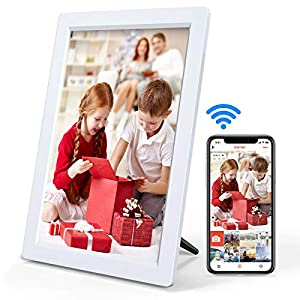 Digital Picture Frame with Bluetooth, Arafuna Touch Screen 10 inch IPS Smart WiFi Electronic Photo Frames, Auto-Rotate…