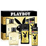 Playboy VIP Him Eau de Toilette 100 ml + Duschgel 250 ml + Deo Spray 150 ml
