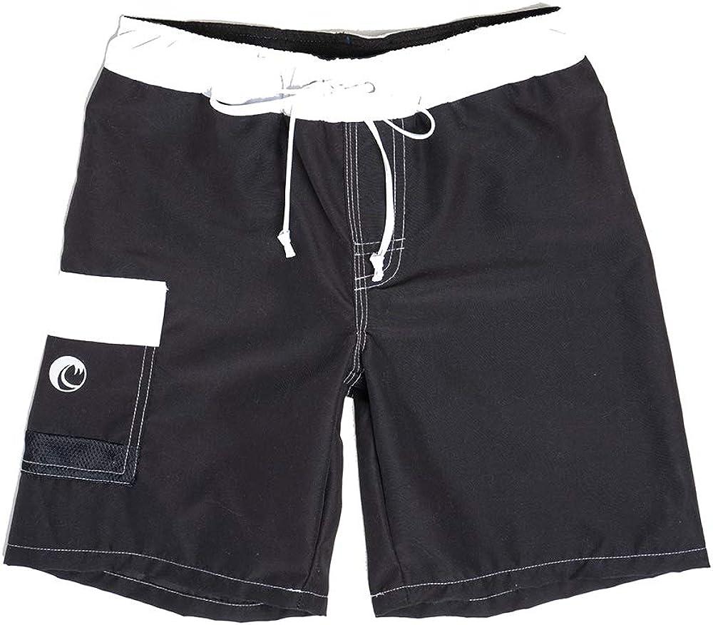 NONETZ Anti-Chafe Boy's Swim Trunks No Mesh & Made in The USA Swimming Shorts