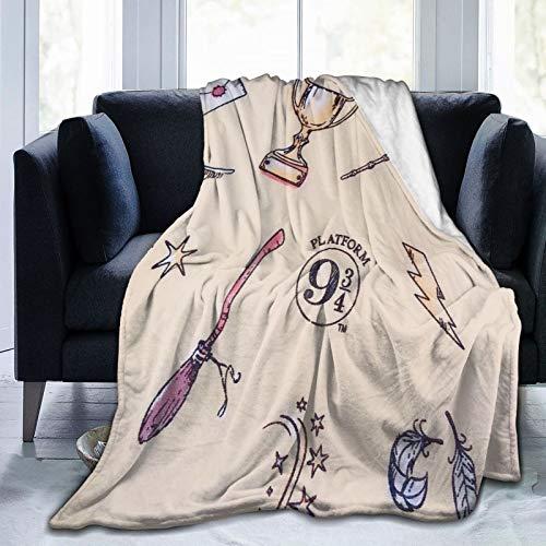 Manta escolar de Harry Potter Hogwarts para sofá, cama, colcha, manta de forro polar, abrazo y cómodo