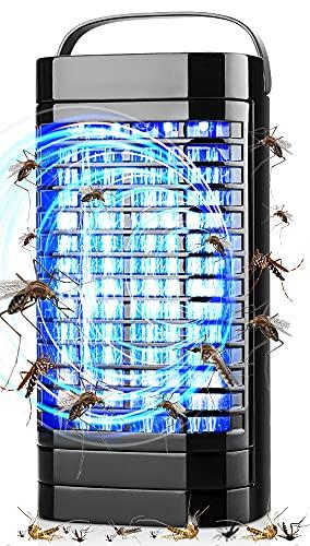 【2021増強版3in1電撃殺虫器】強風吸引扇風機/UV光触媒技術/電撃三合一 UV光源誘引式電撃蚊取り器 捕虫器 誘虫灯 蚊駆除 蚊退治 虫除け 殺虫灯 蚊対策グッズ 家庭用蚊取り器効果抜群 USB給電 人体無害 無臭 薬剤不用 吊り下げ式&据え置き式両用超静音蚊対策 室内 室外 屋内 室内 野外 日本語取扱説明書付き (black)