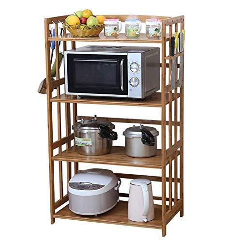 Opberghouder voor keukentoestellen, magnetronkast, bakkerhouder met haken voor keukengerei enz. Bad-Organizer (grootte: 55 '38 & '118 cm)