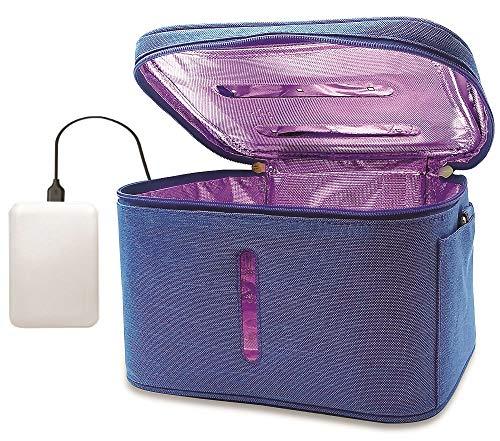 JJ CARE [Upgraded] UV Sterilizer Bag with Free Power Bank, Multi-purpose UV Light Sanitizer Bag, 99.9% Effective Disinfection, UVC Bag Sterilizer For Cell Phone, Wallet,Keys, Baby Items & More!