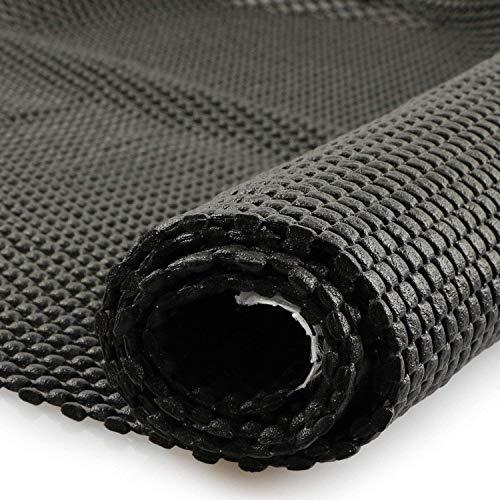 fowong DIY Tapis Antidérapant I Protecteur pour Moquette Coussinet I 100 x 150 cm sous-Tapis Anti Glisse Multi-Fonction pour Tapis, Paillassons, Couloir, Cuisine, Tiroir, Coffre de Voiture - Noir