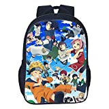 16 Inch Anime Uzumaki Naruto Backpack Backpack For Teenage Girls Boys Book Travel Bag Children School Backpacks Pencil Bag Sets
