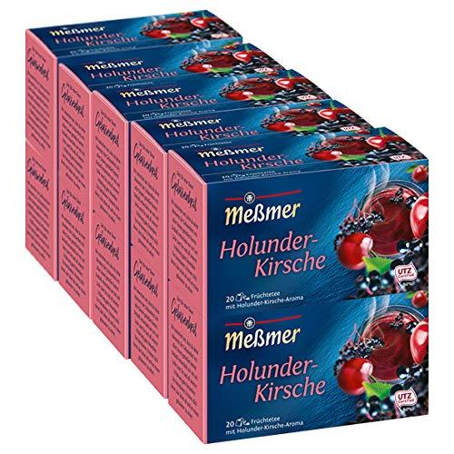 Meßmer Holunder- Kirsche Tee, 10er Pack (10 x 20 x 2,5 g Packung)