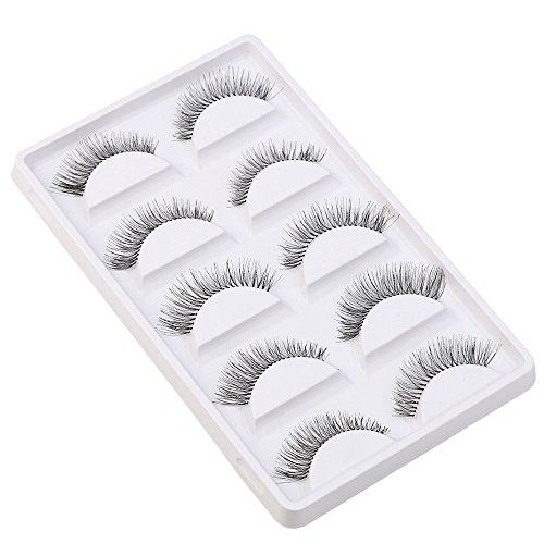 5 Pairs Natural Look Fake Eye Lash False Eyelashes Extension Makeup JoJody